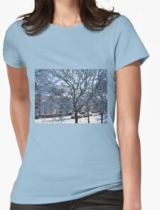 A Winter Street Scene Womens Fitted T-Shirt