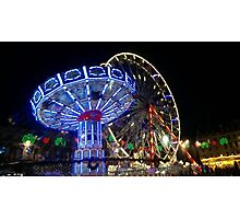 Christmas Carnival in George Square Photographic Print