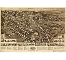 Aero view Map of Goshen New York by Hughes & Fowler (1922) Photographic Print