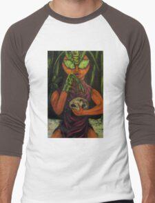 """""""Miss Morphing Mantis"""" Men's Baseball ¾ T-Shirt"""