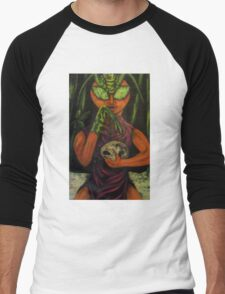 """Miss Morphing Mantis"" Men's Baseball ¾ T-Shirt"