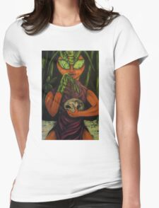 """""""Miss Morphing Mantis"""" Womens Fitted T-Shirt"""