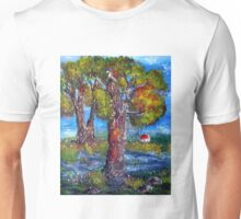 Behind the bluegums Unisex T-Shirt