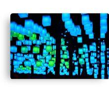 Cube Lights  Canvas Print