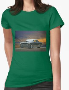1955 Chevrolet Coupe 'One Sinister Chevy' II Womens Fitted T-Shirt