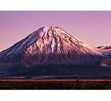 Mt Ngauruhoe Photographic Print