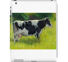 Holstein Dairy Cow in Oil Pastel No. 2 iPad Case/Skin