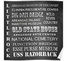 Little Rock Famous Landmarks Poster