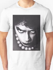Realism Charcoal Drawing of Tim Curry as Frank N Furter in Rocky Horror Picture Show Unisex T-Shirt