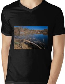 Clear Cool Water Mens V-Neck T-Shirt