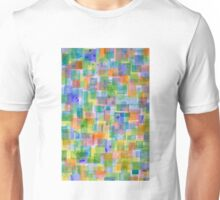Vertical Bright Lightful Colorful Squares Pattern Unisex T-Shirt
