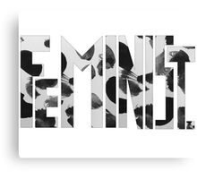 Feminist Text Canvas Print