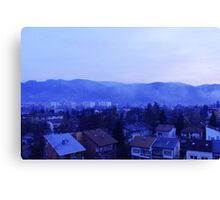 Blue landscape photograph Canvas Print
