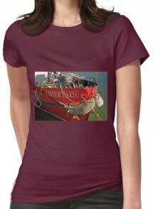 Bow Of The Chieftain, Whitby Harbour Womens Fitted T-Shirt
