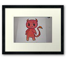 Chibi Devil Handmade Framed Print