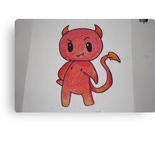 Chibi Devil Handmade Canvas Print