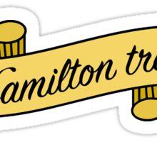 Hamilton Trash Sticker