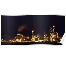 Grangemouth Oil Refinery at Night Poster
