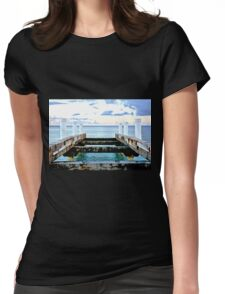 Sunset Pier at Grace Bay Womens Fitted T-Shirt