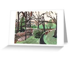 The pond entrance- Dec 29, 2015 Greeting Card