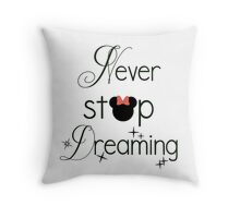 Never Stop Dreaming Minnie Throw Pillow