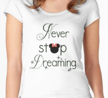 Never Stop Dreaming Minnie Women's Fitted Scoop T-Shirt