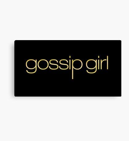 Gossip Girl Title Canvas Print
