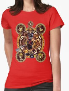 Kingdom Hearts Sora stained glass Womens Fitted T-Shirt