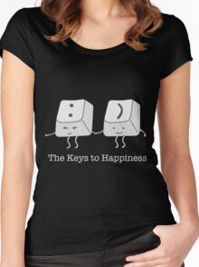 The keys to happiness Women's Fitted Scoop T-Shirt