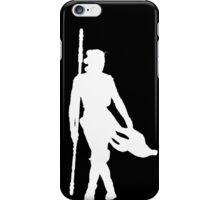 Rey Silhoutte (White) iPhone Case/Skin