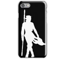Rey Silhoutte (White) iPhone Case/Skin