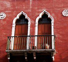 Balcony doors in Venice by Margaret Brown