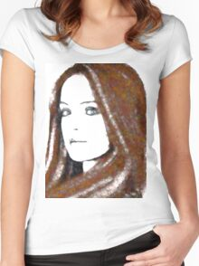 Woman Sublime Female Portrait Women's Fitted Scoop T-Shirt