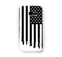 Black and white american flag - dripping Samsung Galaxy Case/Skin