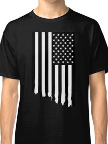 Black and white american flag - dripping Classic T-Shirt