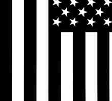 Black and white american flag - dripping Sticker