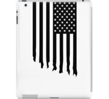Black and white american flag - dripping iPad Case/Skin