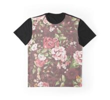 Floral brown Graphic T-Shirt