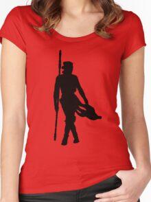 Rey Silhoutte (Black) Women's Fitted Scoop T-Shirt
