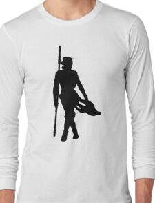 Rey Silhoutte (Black) Long Sleeve T-Shirt