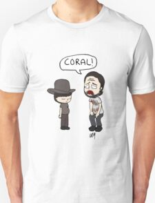 The Walking Dead, Coral meme illustration T-Shirt