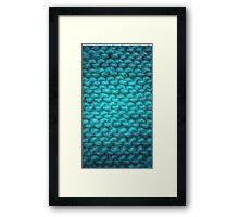 Knit Texture 01 Framed Print