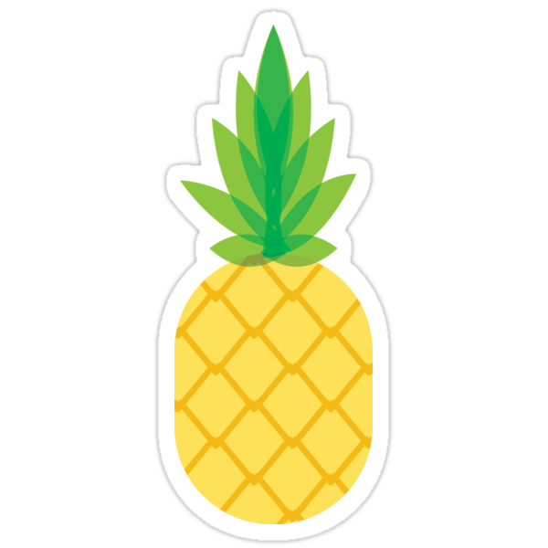pineapple stickers by miriah hernden redbubble. Black Bedroom Furniture Sets. Home Design Ideas