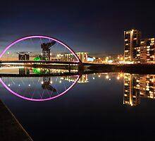 Glasgow Clyde Arc Bridge at Twilight by Maria Gaellman