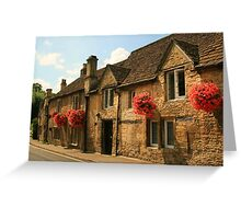 Castle Combe Cottages Greeting Card