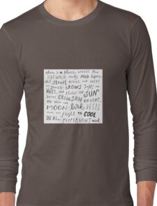 Where the Sidewalk Ends quote Shel Silverstein Long Sleeve T-Shirt