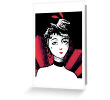 Burlesque Dancer Painting Greeting Card