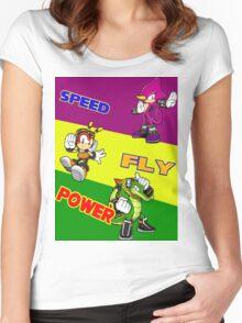 Team Chaotix Women's Fitted Scoop T-Shirt