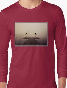Stickmen on the dock Long Sleeve T-Shirt