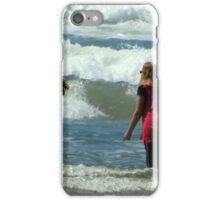 Teasing The Waves...Yachat's, Oregon iPhone Case/Skin
